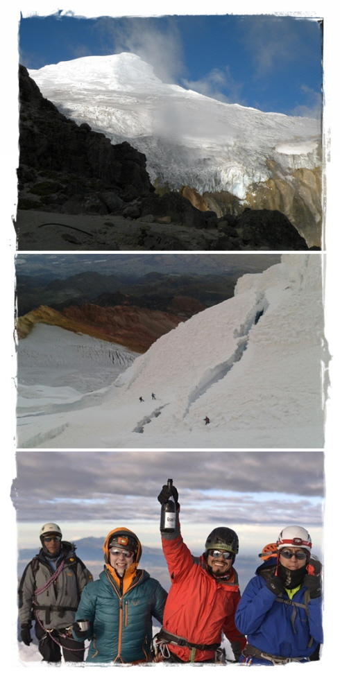 ascent to Cayambe (5.790 m - 15,420 ft)