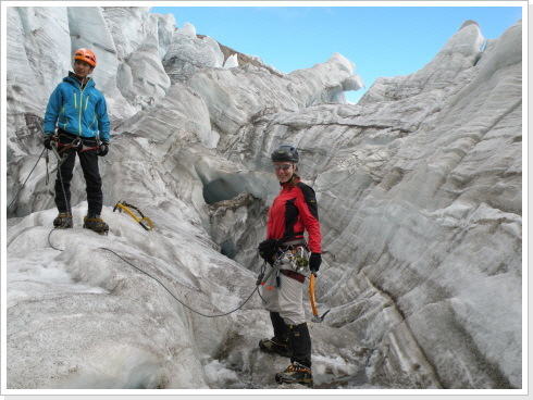glacier training Cayambe
