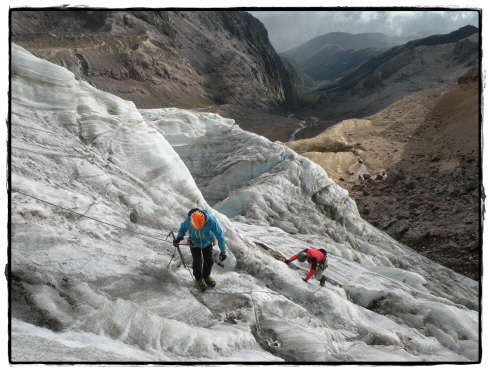 ice training on Cayambe glacier