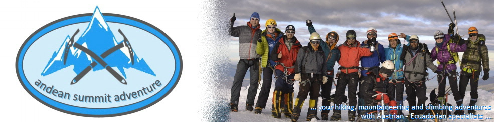 climbing groups Cotopaxi, Iliniza, Chimborazo and Cayambe