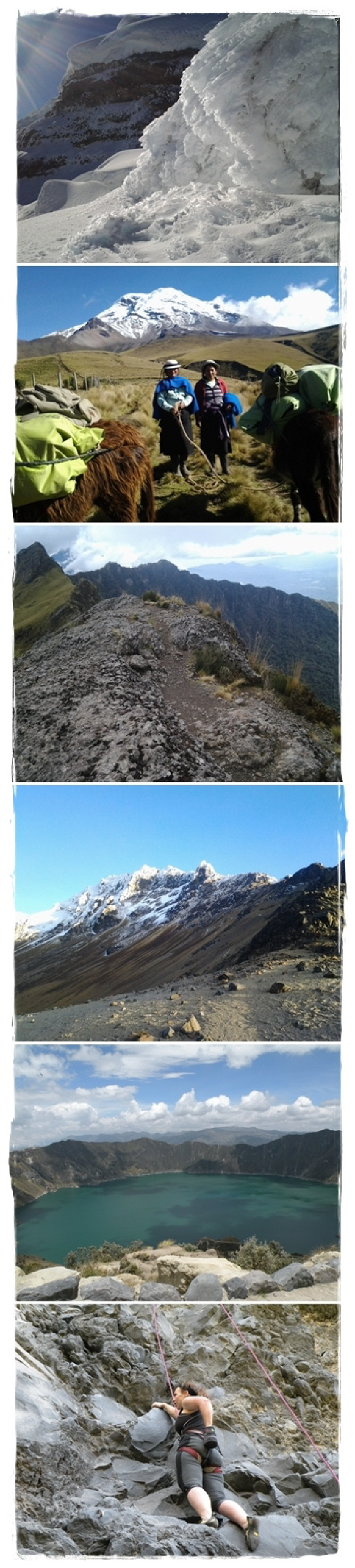 steadily up, from Quito to Chimborazo (6.263 m / 20.549 ft)